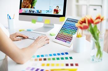 Gestaltung am Computer mit Farbtabellen