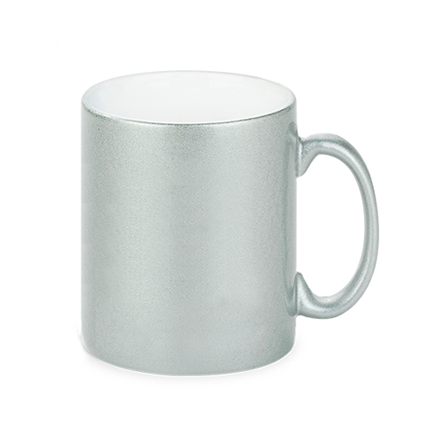 Keramiktasse Silber