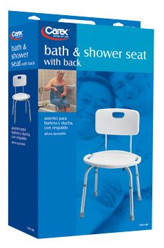 carex shower chair oversized reading australia adjustable bath seat with back