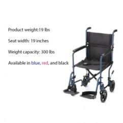 Transport Wheelchair Nova Zeus Gaming Chair 19lb Lightweight 19 Aluminum 329 Blue Red Black
