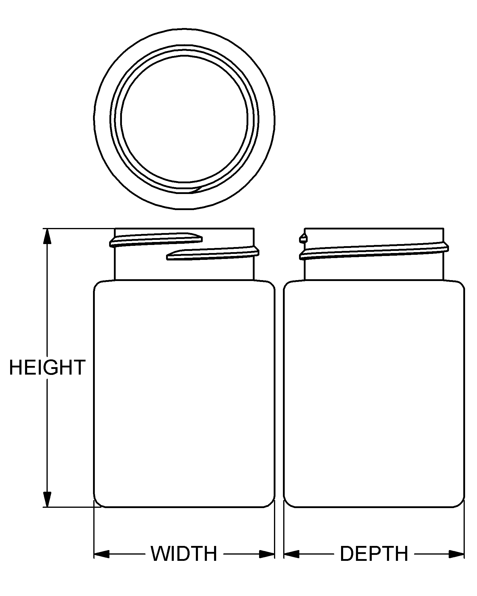 hight resolution of 75 cc contemporary series wide mouth med round