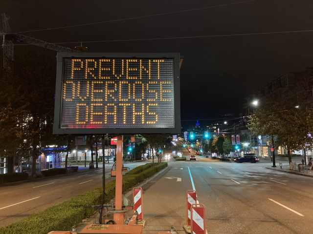International Overdose Awareness Day; Vancouver; Aug. 31, 2020