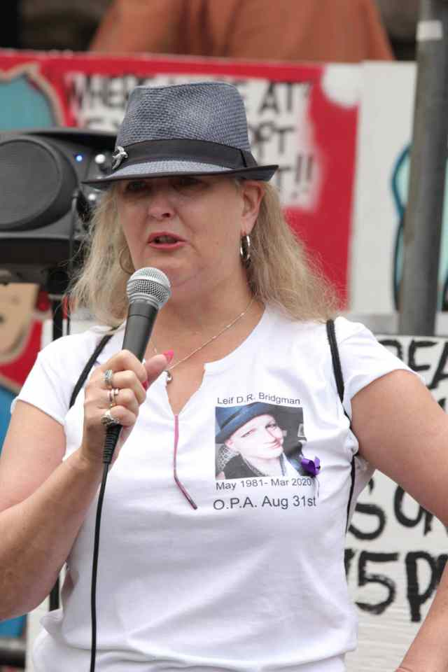 International Overdose Awareness Day Downtown Eastside Rally; Vancouver; Aug. 31, 2020