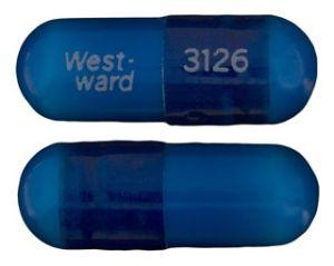 West-ward 3126 Pill Images (Blue / Capsule-shape)