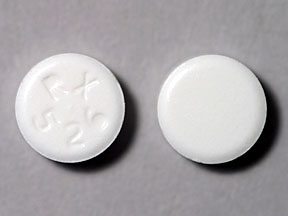 RX 526 Pill Images (White / Round)