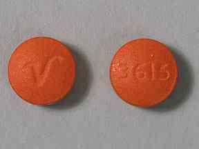 V 3615 Pill Images (Orange / Round)