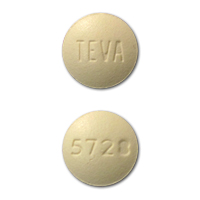 TEVA 5728 Pill Images (Beige / Round)