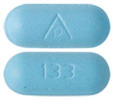 AP 133 Pill Images (Blue / Capsule-shape)