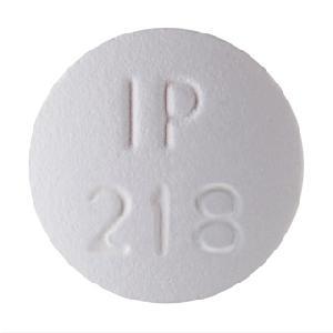 IP 218 500 Pill Images (White / Round)