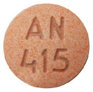 AN 415 Pill Images (Orange / Round)