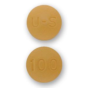 U-S 100 Pill Images (Yellow / Round)