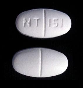 NT 151 Pill Images (White / Elliptical / Oval)