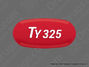 TY 325 Pill Images (Red / Capsule-shape)