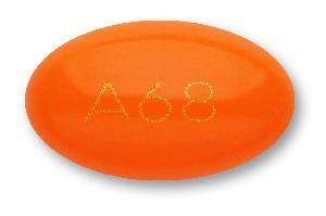 A68 Pill Images (Orange / Elliptical / Oval)