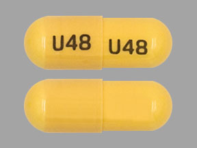 U48 U48 Pill Images (Yellow / Capsule-shape)