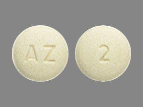 AZ 2 Pill Images (Yellow / Round)