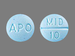 APO MID 10 Pill Images (Blue / Round)
