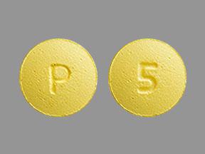 P 5 Pill Images (Yellow / Round)