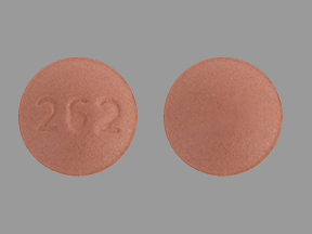 262 Pill Images (Peach / Round)