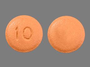 10 Pill Images (Orange / Round)