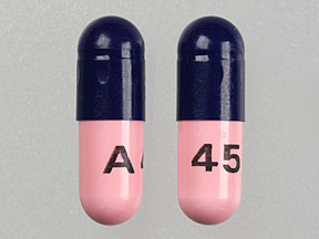 A 45 Pill Images (Blue & Pink / Capsule-shape)