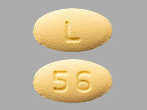 L 56 Pill Images (Yellow / Elliptical / Oval)