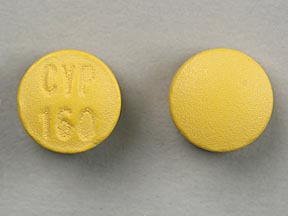 CYP 160 Pill Images (Yellow / Round)