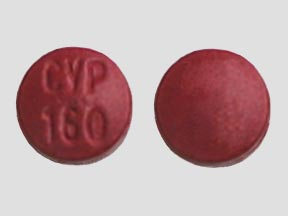 CYP 160 Pill Images (Red / Round)
