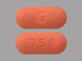 G 750 Pill Images (Orange / Capsule-shape)