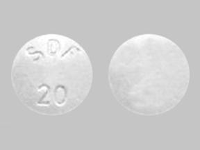 SDF 20 Pill Images (White / Round)