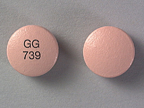 GG 739 Pill Images (Pink / Round)