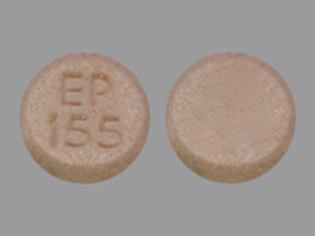 EP 155 Pill Images (Peach / Round)