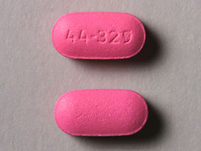 44 329 Pill Images (Pink / Elliptical / Oval)