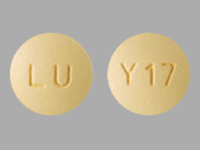 LU Y17 Pill Images (Yellow / Round)