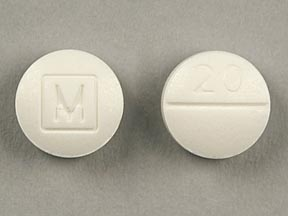 Round White Pill With Circle M - MedsChat