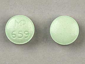 MP 659 Pill Images (Green / Round)