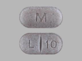 M L 10 Pill Images (Gray / Capsule-shape)