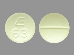 E 63 Pill Images (Yellow / Round)