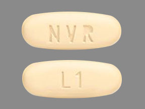 NVR L1 Pill Images (Yellow / Elliptical / Oval)