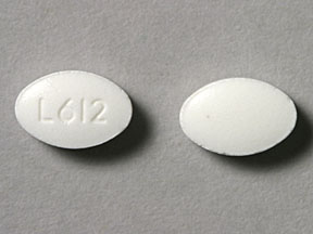 L612 Pill Images (White / Elliptical / Oval)