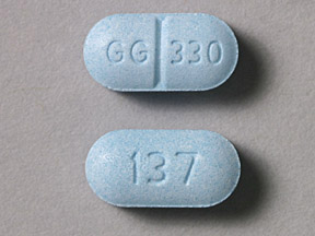 137 GG 330 Pill Images (Blue / Capsule-shape)