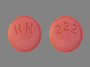 HH 222 Pill Images (Red / Round)