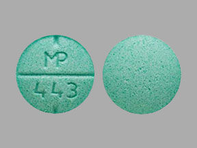 MP 443 Pill Images (Green / Round)