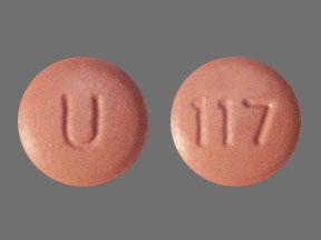 U 117 Pill Images (Pink / Round)