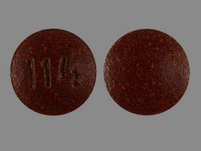 114 Pill Images (Brown / Round)