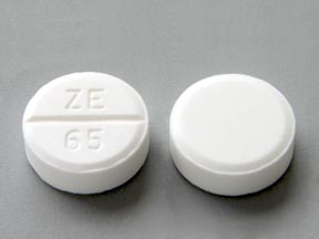 ZE 65 Pill Images (White / Round)