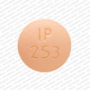 IP 253 Pill Images (Orange / Round)
