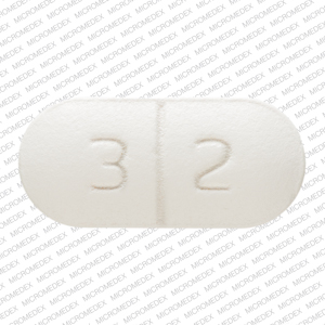 X 3 2 Pill Images (White / Capsule-shape)
