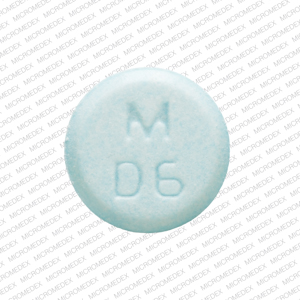 M D6 Pill Images (Blue / Round)