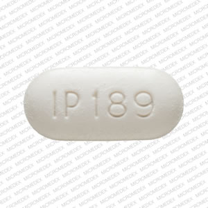 375 IP 189 Pill Images (White / Elliptical / Oval)